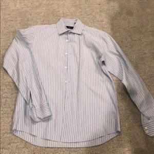 Hugo Boss Blue Stripe Dress Shirt